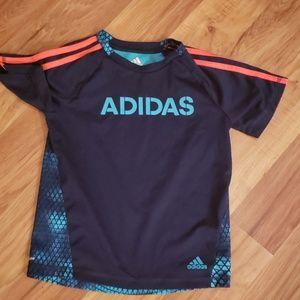 Little boy's short sleeved Adidas shirt